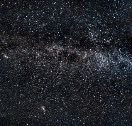 melkachtig: Perseid meteoren on the milky way