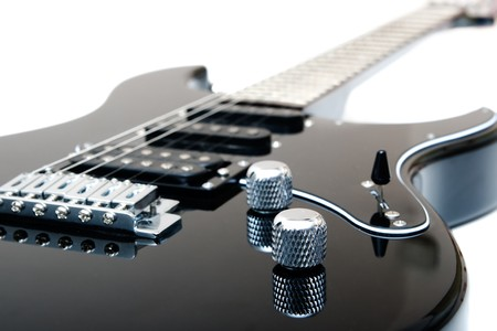 Gros plan de guitare électrique  Banque d'images - 7368441