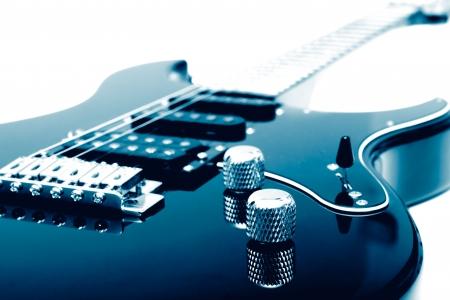 Electric guitar closeup Stock Photo