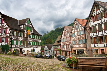 Le village de Schiltach dans la forêt noire, Allemagne Banque d'images - 7948310