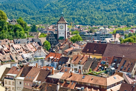 freiburg: View of the city of Freiburg in the Black Forest, Germany