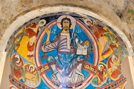 Pantocrator in Sant Climent de Taull, Catalonia Spain Stock Photo