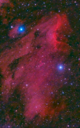 astroimage: Pelican Nebula in the constellation of Cygnus