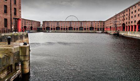 Albert dock in Liverpool, England photo