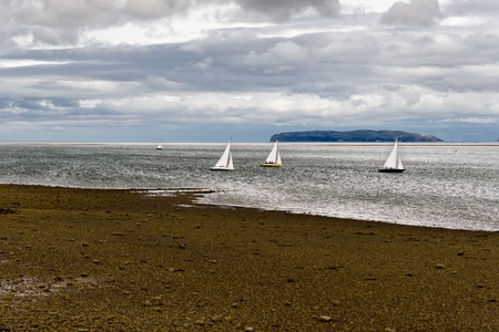 Sailboats in Anglesey, Wales photo