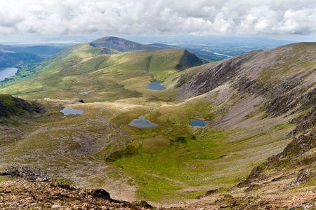 quiet scenery: Mountain view from the Snowdon summit, Snowdonia, Wales