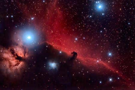 kosmos: Pferdekopfnebel und Flaming Baum im Sternbild Orion