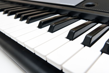 Closeup of Electronic Piano Keyboard Stock Photo - 12246332