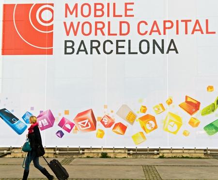 telecoms: BARCELLONA, SPAGNA - 25 febbraio: Il GSMA Mobile World Congress