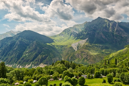 Pyrenees mountain views from Taull, Catalonia, Spain Stock Photo - 14156915