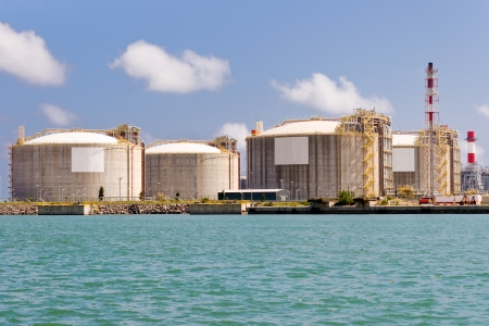LNG Tanks at the Port of Barcelona  photo