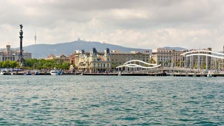Port Vell at Barcelona Coastline  photo