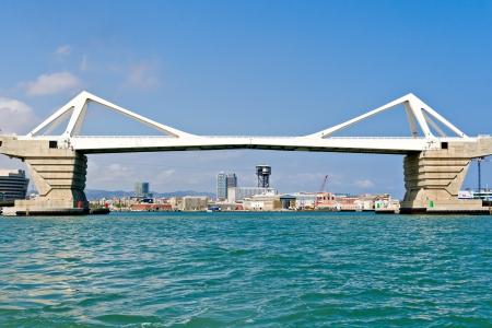 Europa Bridge at Port of Barcelona Stock Photo - 14553551