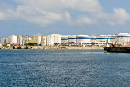lng: LNG Tanks at the Port of Barcelona