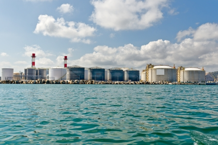 LNG Tanks at the Port of Barcelona