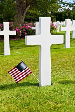 omaha: American War Cemetery at Omaha Beach, Normandy  Colleville-sur-Mer