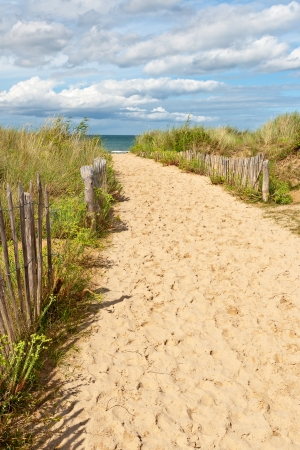 Sand Path to the Beach Stock Photo