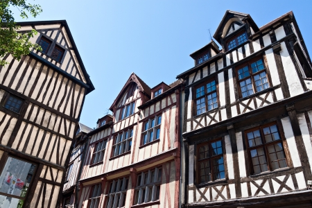 normandy: Half-Timbered Houses in Rouen, Normandy, France