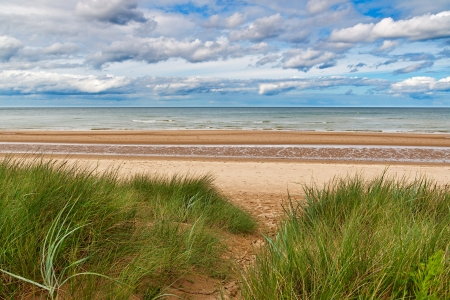 omaha: Omaha Beach, one of the D-Day beaches of Normandy, France