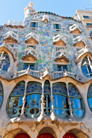 BARCELONA, SPAIN - NOVEMBER 11: Casa Batlló Facade. The Ffamous building designed by Antoni Gaudi is one of the major touristic attractions in Barcelona. November 11, 2012 in Barcelona, Spain  Editorial