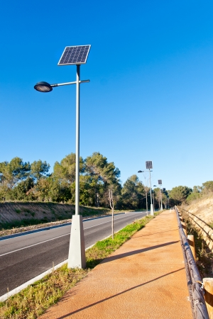 streetlight: Street Lamp with Solar Panel