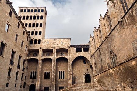 rei: Palau Reial Major at Placa del Rei in Barcelona
