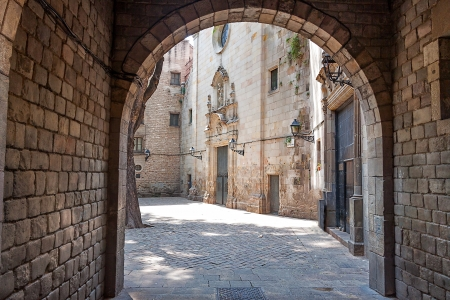 old quarter: Barcelona Gothic quarter