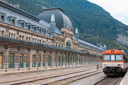 huesca: Abandoned railway station of Canfranc, Huesca, Spain Stock Photo
