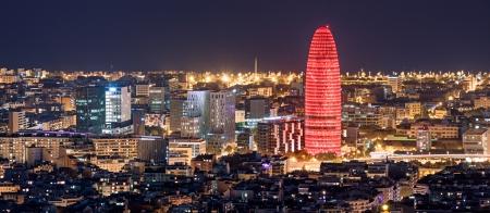 barcelone: Barcelone dans la nuit Banque d'images