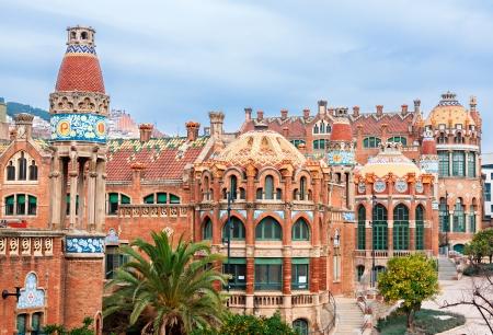 Barcelona: Hôpital de la Santa Creu i Sant Pau, Barcelone, Espagne