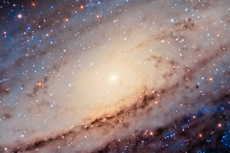 andromeda: Andromeda Galaxy Center Stock Photo