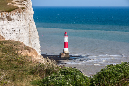 Beachy Head Lighthouse in the afternoon photo