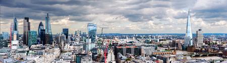 ロンドンのシティ パノラマ 写真素材