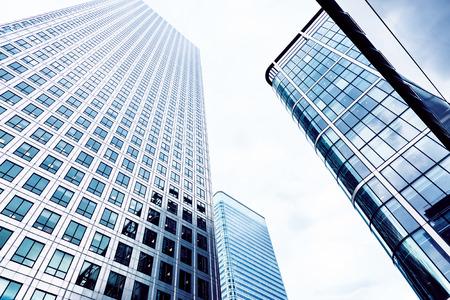 blue toned: Grattacieli di vetro nella City di Londra, Blue tonica Archivio Fotografico