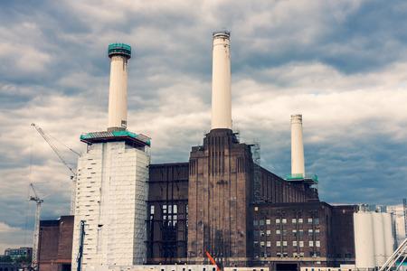 pink floyd: Battersea Power Station in Chelsea, London - Cross process