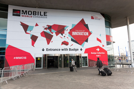 BARCELONA, SPAIN FEBRUARY 28: Every year, tens of thousands of reporters, analysts, and suited-up businesspeople descend upon Barcelona for the Mobile World Congress trade show. February 28, 2015 in Barcelona, Spain