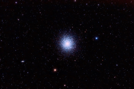 astrophoto: M13, The Great Globular Cluster in Hercules Stock Photo