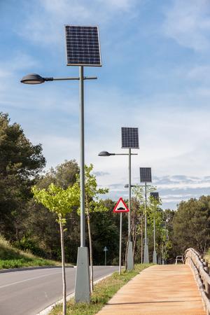 powered: Solar powered street lapms