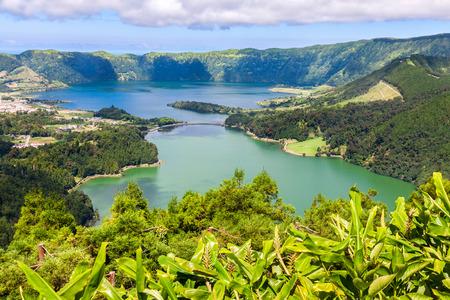 rei: Lake of Sete Cidades from Vista do Rei viewpoint in Sao Miguel, Azores