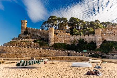 mar: Tossa de Mar Castle and Walls in Costa Brava, Catalonia