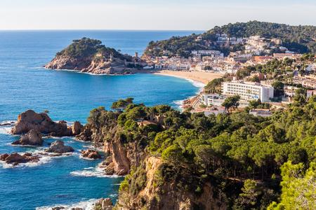 mar: Aerial view of Tossa de Mar in Costa Brava, Catalonia