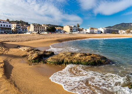 costa brava: Tossa de Mar village in the afternoon, Costa Brava, Catalonia Stock Photo