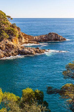 coastline: Typical beautiful wild Costa Brava coastline, Catalonia