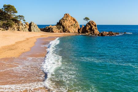mar: Mar Menuda Beach in Tossa de Mar, Costa Brava, Catalonia