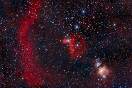 astroimage: Orion Belt captured with an amateur telescope