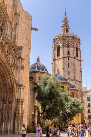 supposed: VALENCIA -JUNE 24: Part of the Cathedral of Valencia, on June 24 2016 in Valencia, Spain.  The Cathedral is a place where one of the supposed Holy Chalices is kept. Editorial