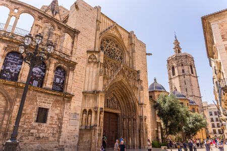 chalices: VALENCIA -JUNE 24: Part of the Cathedral of Valencia, on June 24 2016 in Valencia, Spain.  The Cathedral is a place where one of the supposed Holy Chalices is kept. Editorial