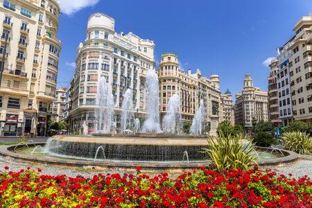 valencia: VALENCIA -JUNE 26: Valencia Historic Buildings on June 26 2016 in Valencia, Spain. Every year, Valencia welcomes 4 million visitors. Editorial