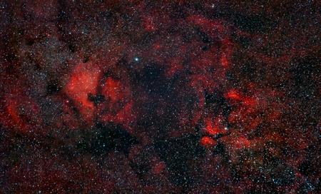 nebulosity: Nebulosity around Cygnus Constellation including North America Nebula, captured with an amateur telescope