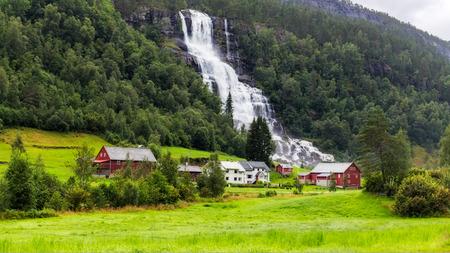 north cascade national park: Tvindefossen waterfall in Voss, Norway